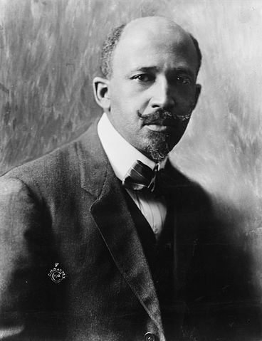 A black and white image of WEB Du Bois