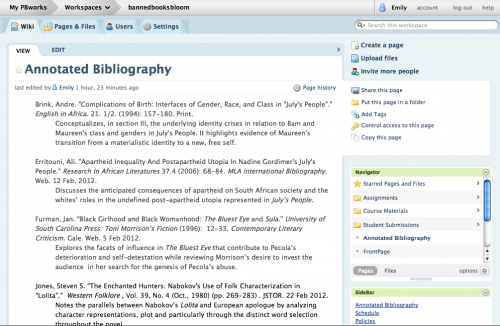Annotated bibliography example mla internet