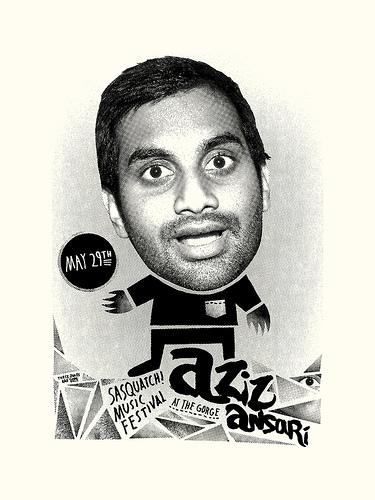 Aziz Ansari Comedy Poster