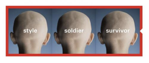 Image of an HSBC advertisement with the same image repeated three times with three different labels