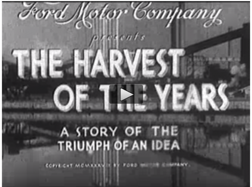 "student groups analyze the use of ""utopian"" themes in a 1937 Ford Commercial"