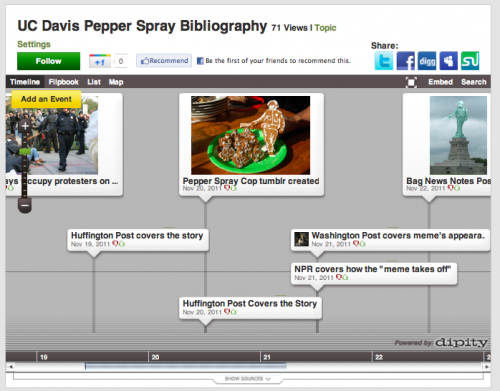 Annotated Bibliographic Timeline of The UC Davis Pepper Spray Incident