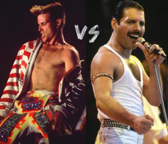 Vanilla Ice and Freddie Mercury of Queen
