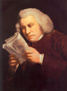A portrait of Samuel Johnson by Joshua Reynolds