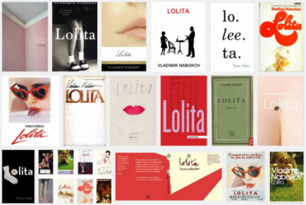 Various covers of the novel Lolita